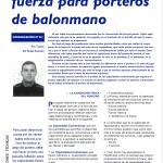 Handbol Lleida - Article Txema del Rosal entrenamiento de fuerza porteros