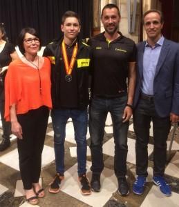Pau Isern jugador del CH Lleida Pardinyes integrant de la seleccio catalana cadet 1 amb toni Gilabert