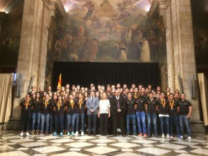 Pau Isern jugador del CH Lleida Pardinyes integrant de la seleccio catalana cadet 2